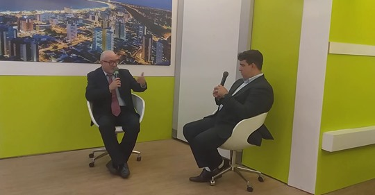 Roberto Notícia em entrevista no Programa Agora Master na TV Master com David Maia