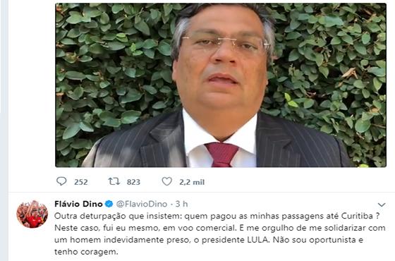 """DIFERENTE DE RC – Governador do Maranhão diz que pagou viagem pra ver Lula do próprio bolso: """"Não sou oportunista"""""""