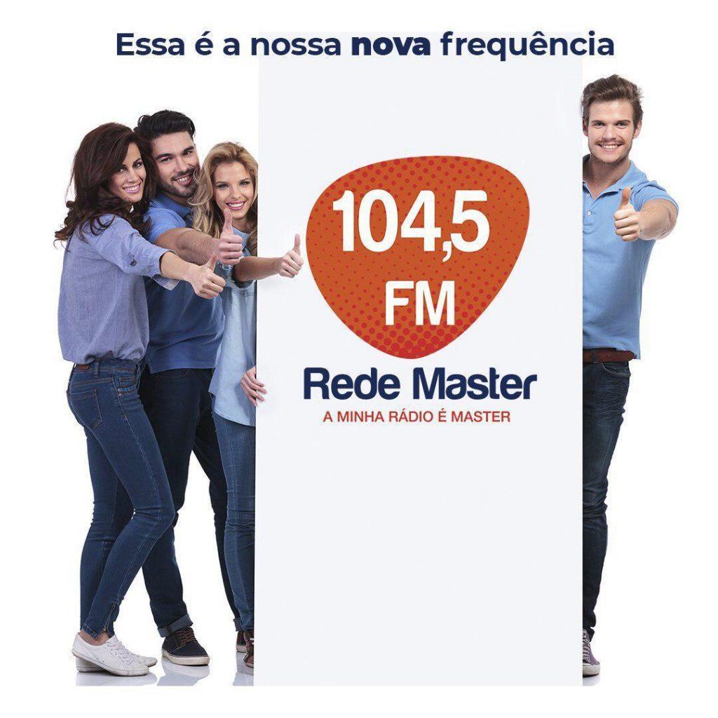 Rede Master de Rádio FM muda a frequência para 104.5; confira as novidades da emissora