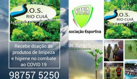 CORONAVÍRUS - Associação SOS Rio Cuiá realiza campanha de arrecadação de alimentos e produtos de limpeza para higienizar comunidades carentes de João Pessoa